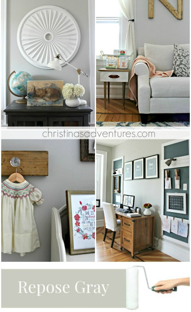 Sherwin Williams Repose Gray Modern farmhouse paint colors