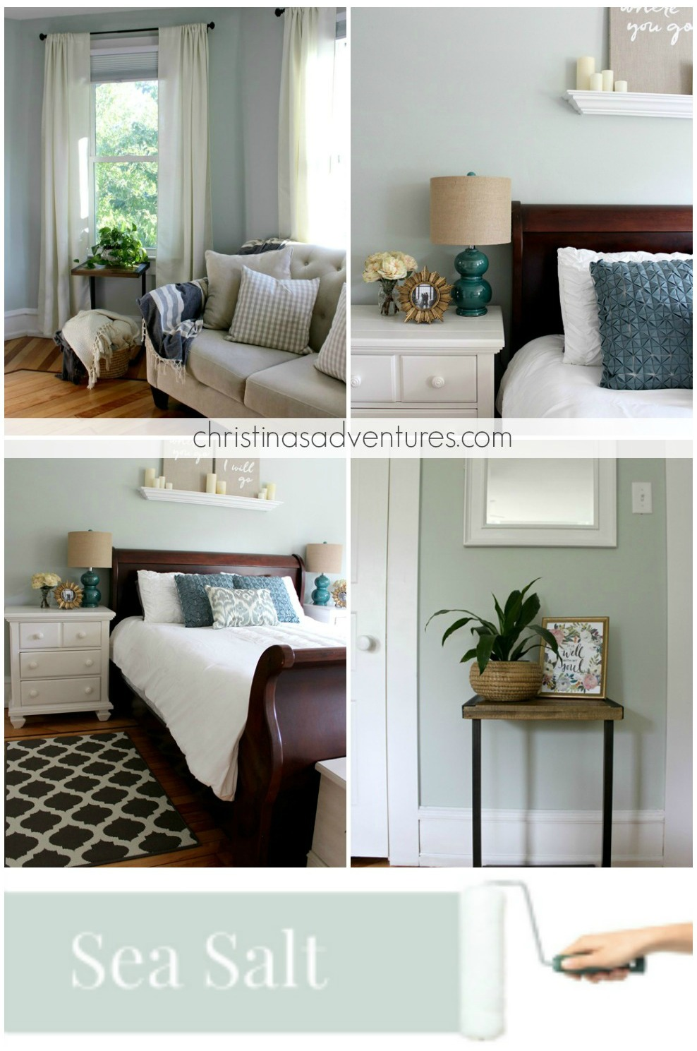 A Cool And Calming Bedroom Color Sherwin Williams Sea Salt Modern Farmhouse Paint Colors