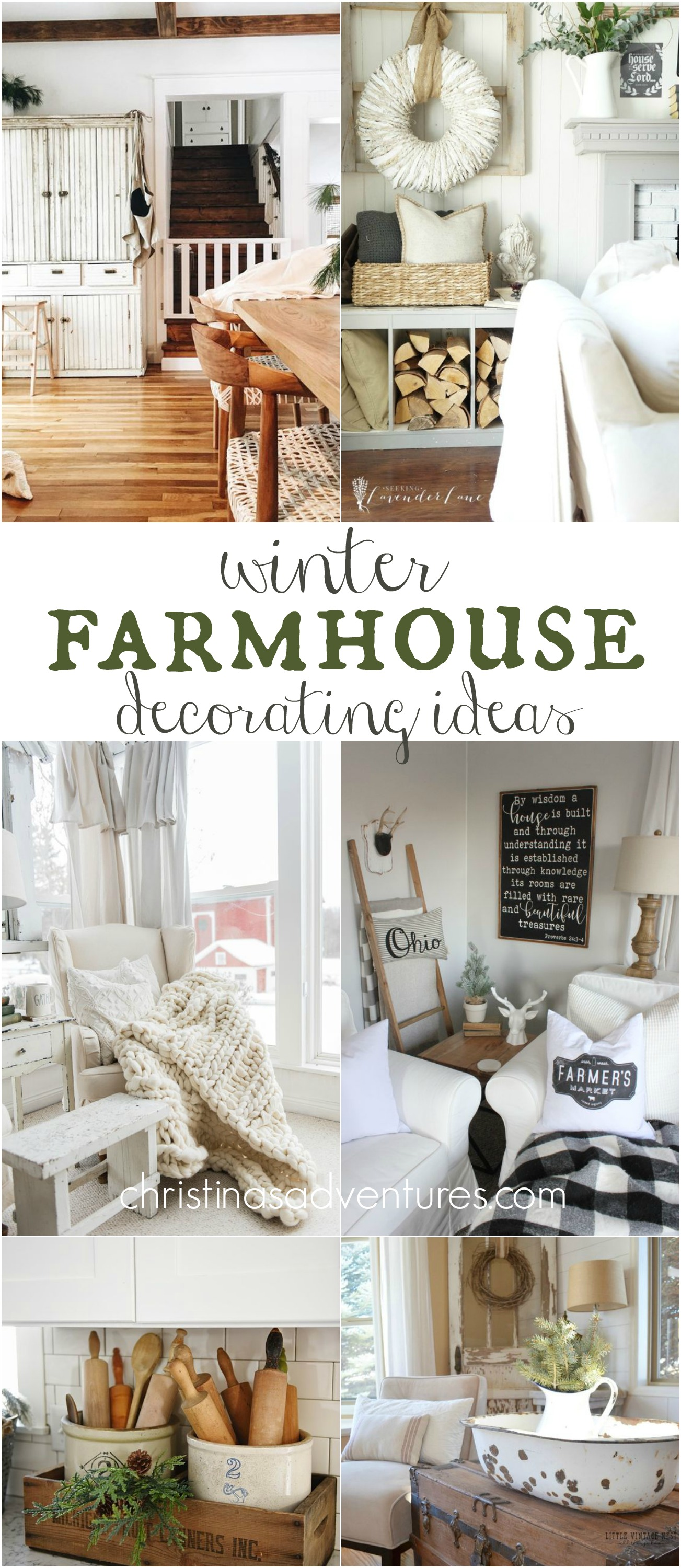 Winter Farmhouse Decorating Ideas Christinas Adventures
