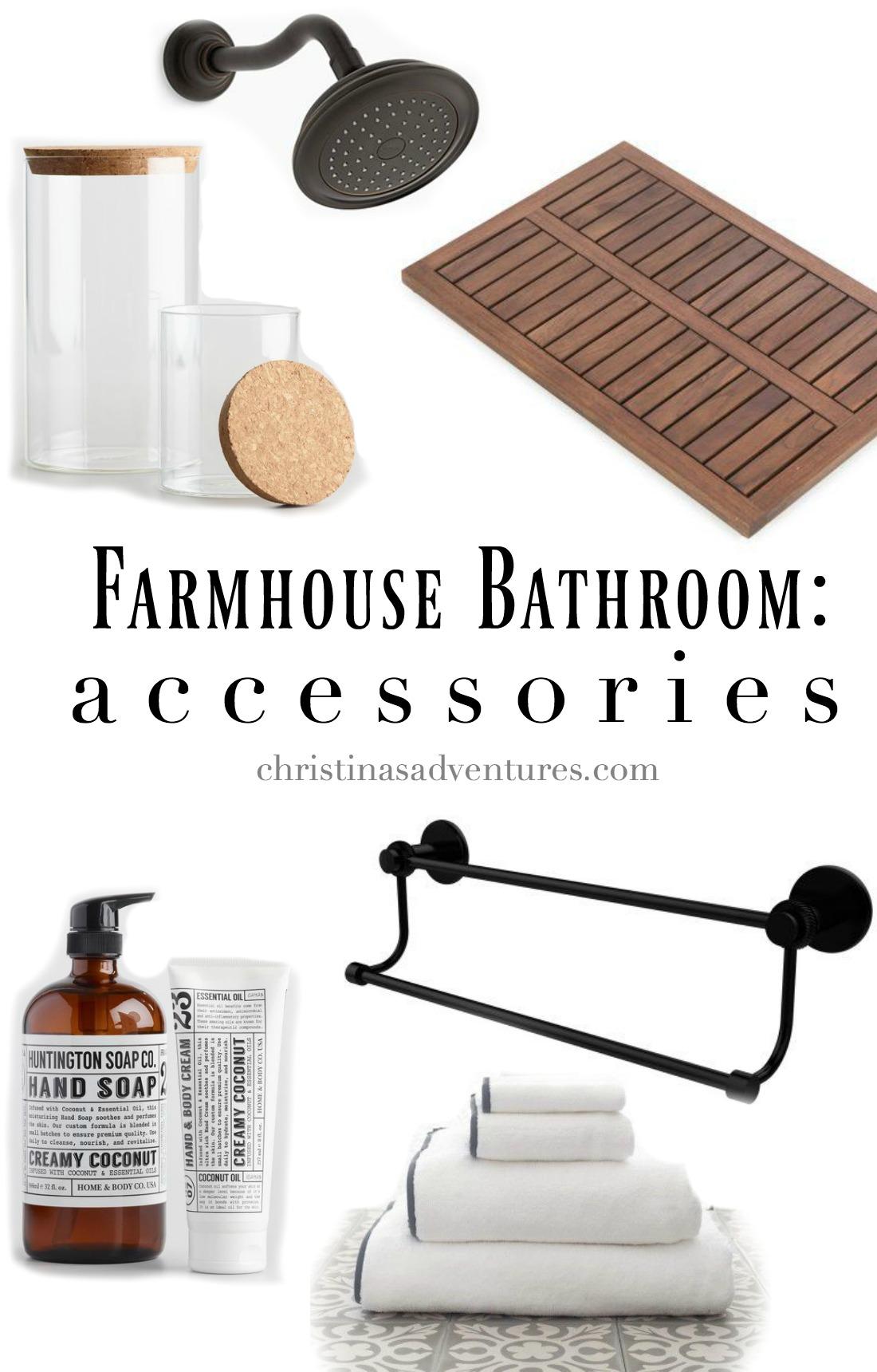 Bathroom Accessories. Farmhouse Bathroom Design