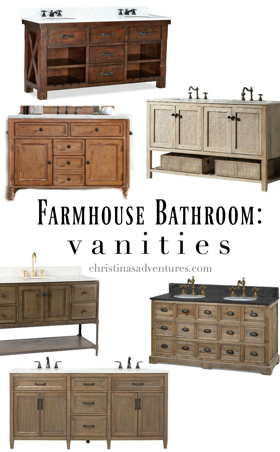 vanities farmhouse bathroom design - Farmhouse Bathroom Vanity