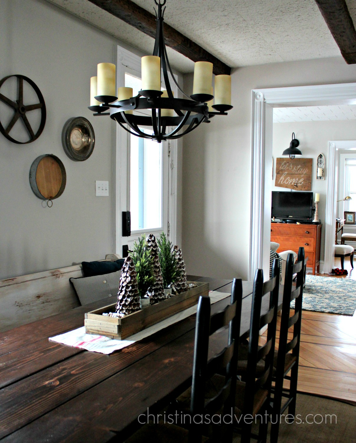 Farmhouse Kitchen Chandelier