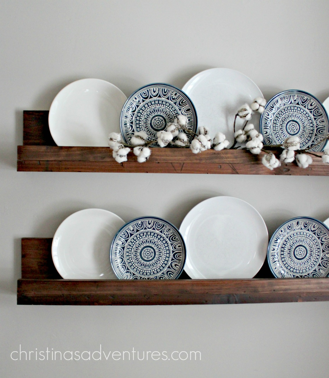 Simple Diy Ledge Shelf Tutorial Christina Maria Blog