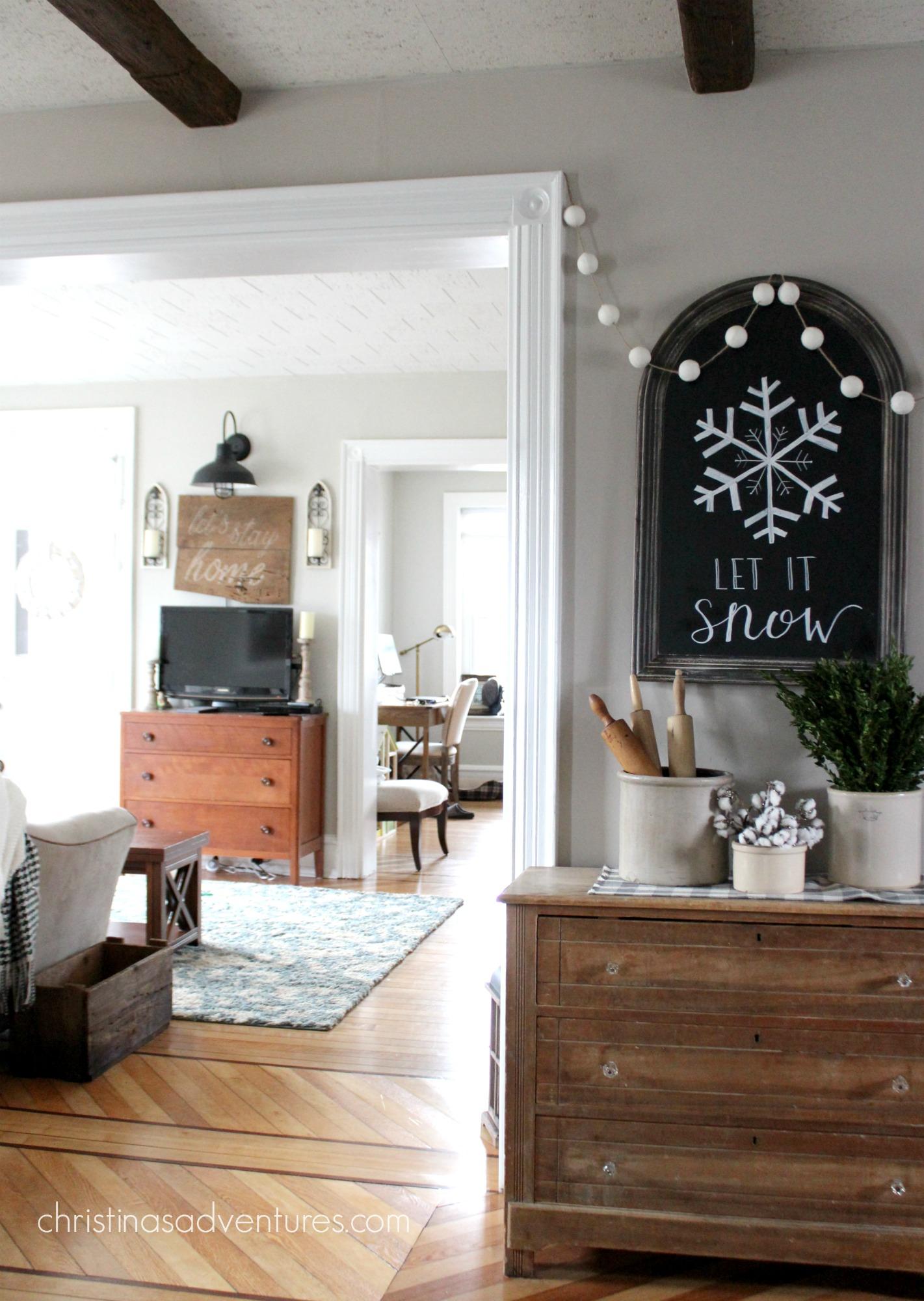 Farmhouse winter touches