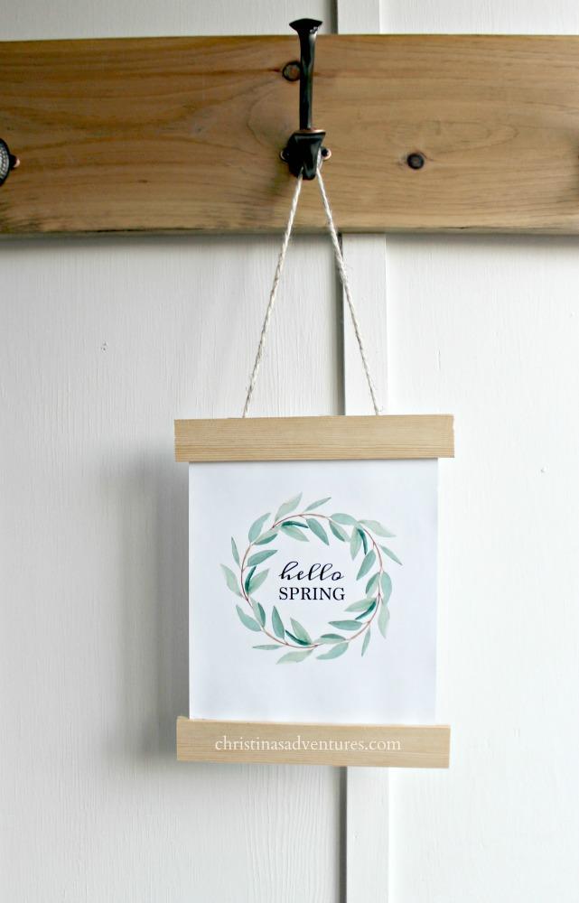DIY hello spring sign