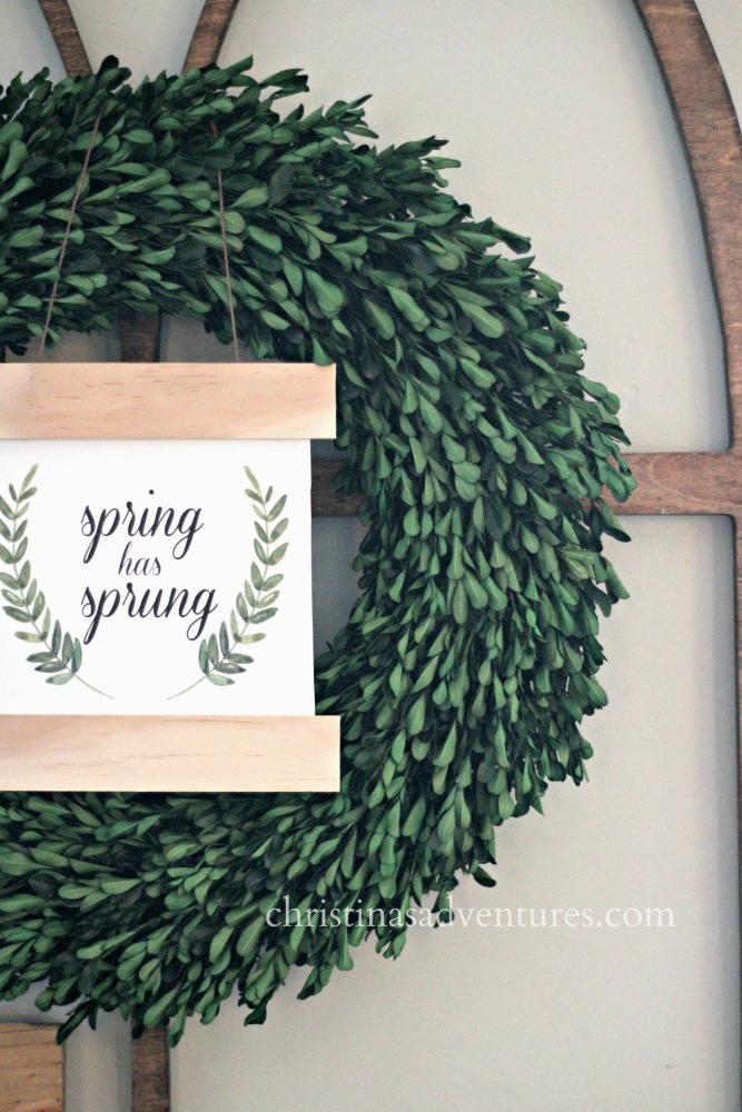 Diy Spring Sign Free Printables Christinas Adventures
