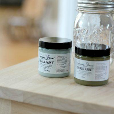 Vintage Farmhouse Green Chalk Paint Mixture