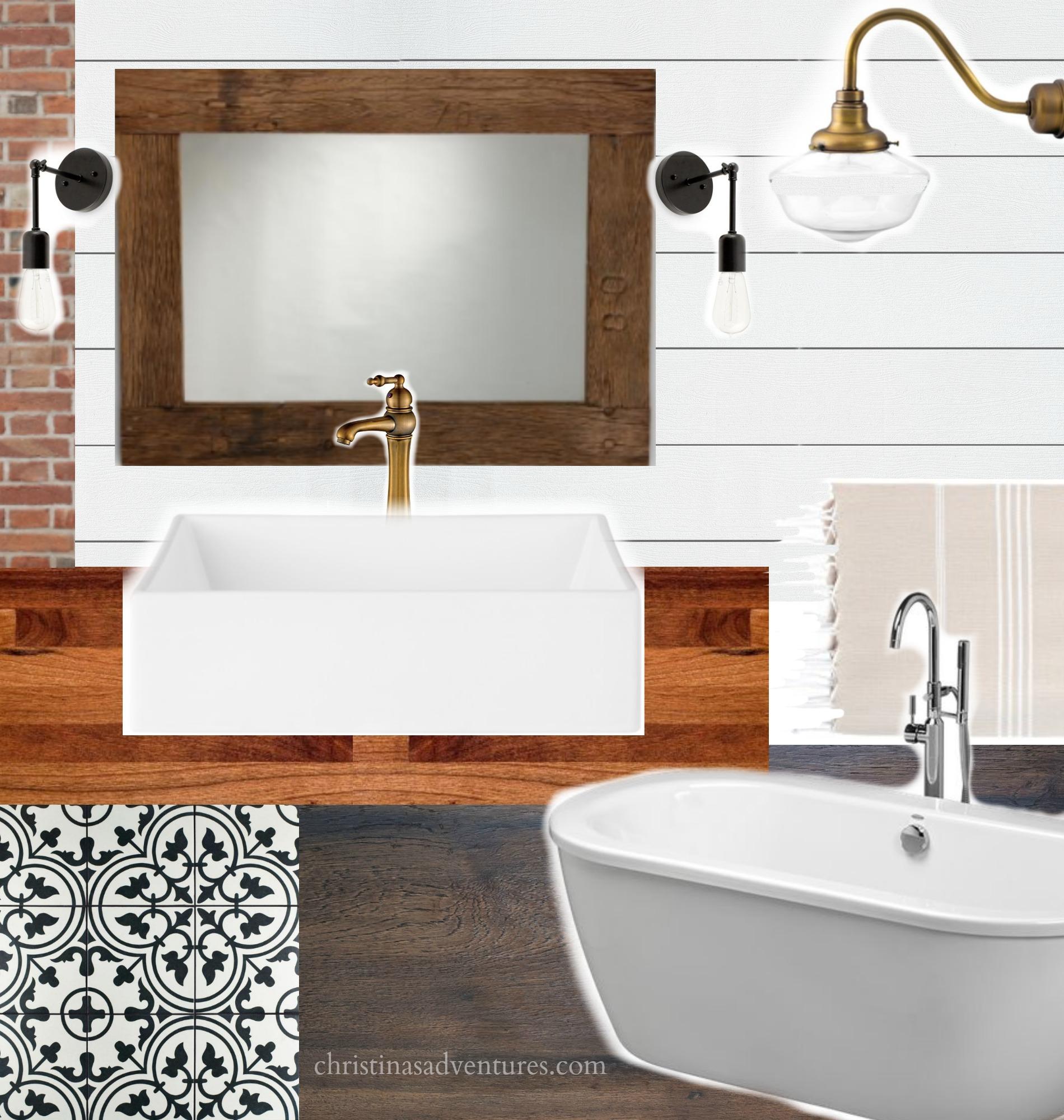 Vintage Inspired Farmhouse Bathroom Plan - ORC Week 1 - Christinas ...