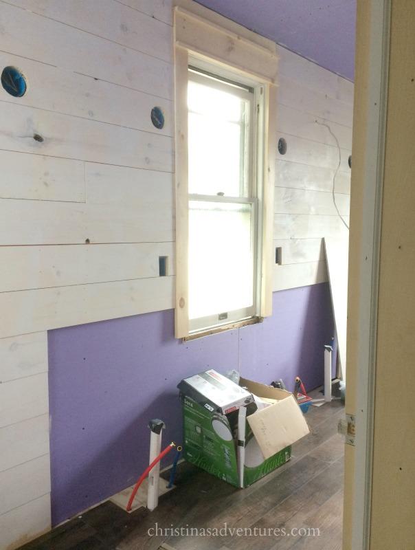 Bathroom Makeover Shiplap Flooring Paint Choices