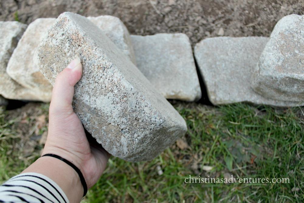 rock edging pavers