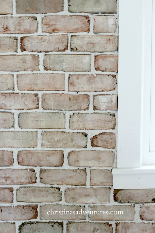 brick next to window trim