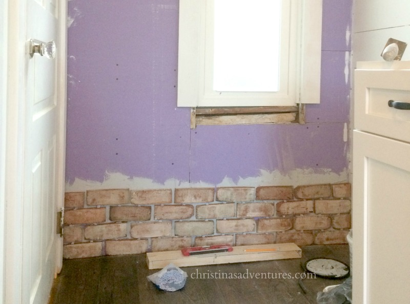 brick veneer over drywall