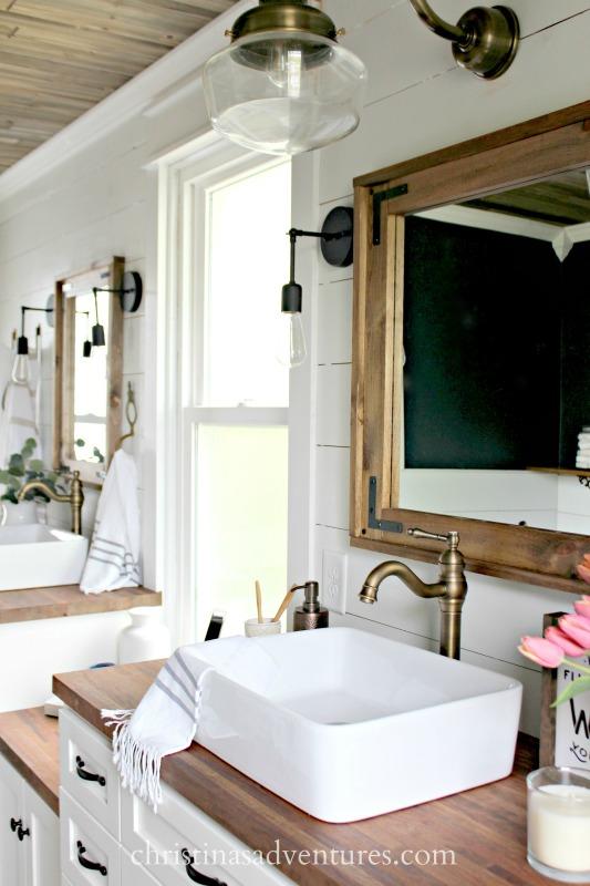 Diy Wood Framed Bathroom Mirror Christina Maria Blog