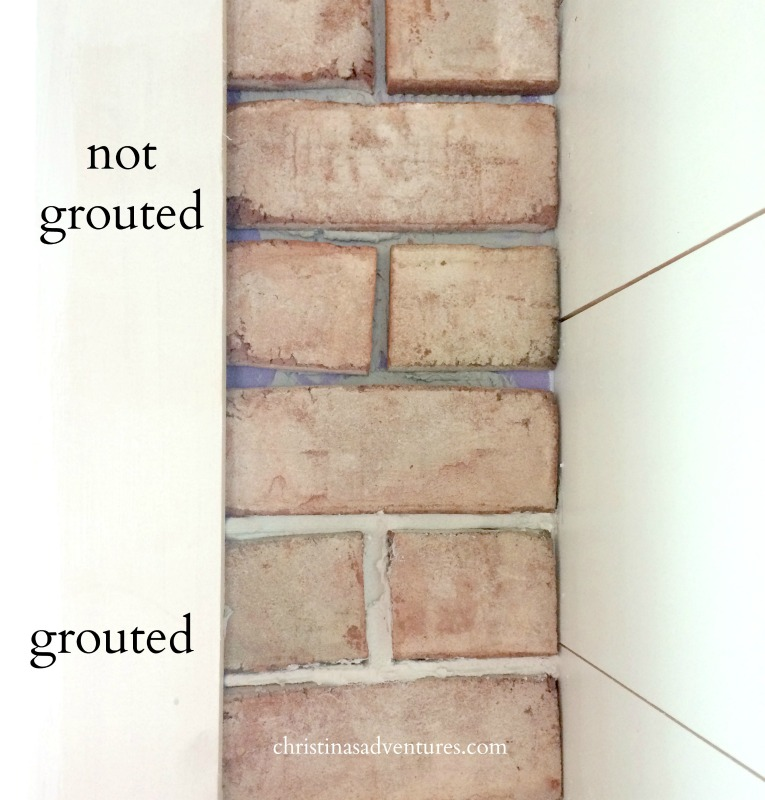grout in brick