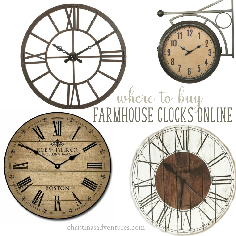 Where To Buy Farmhouse Wall Clocks Christinas Adventures