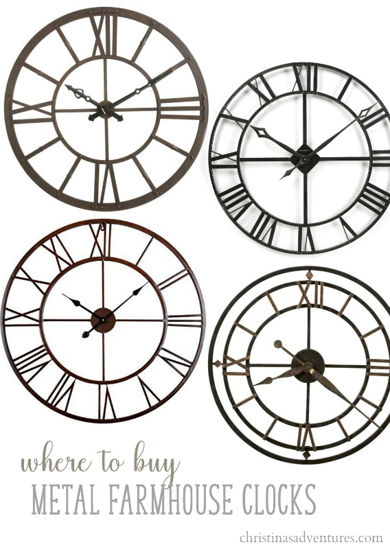 Where To Buy Metal Farmhouse Wall Clocks Clockwise From The Top Left