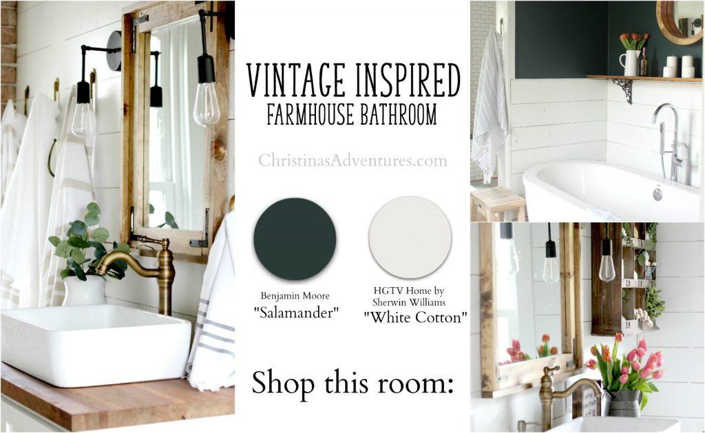 shop the vintage inspired farmhouse bathroom