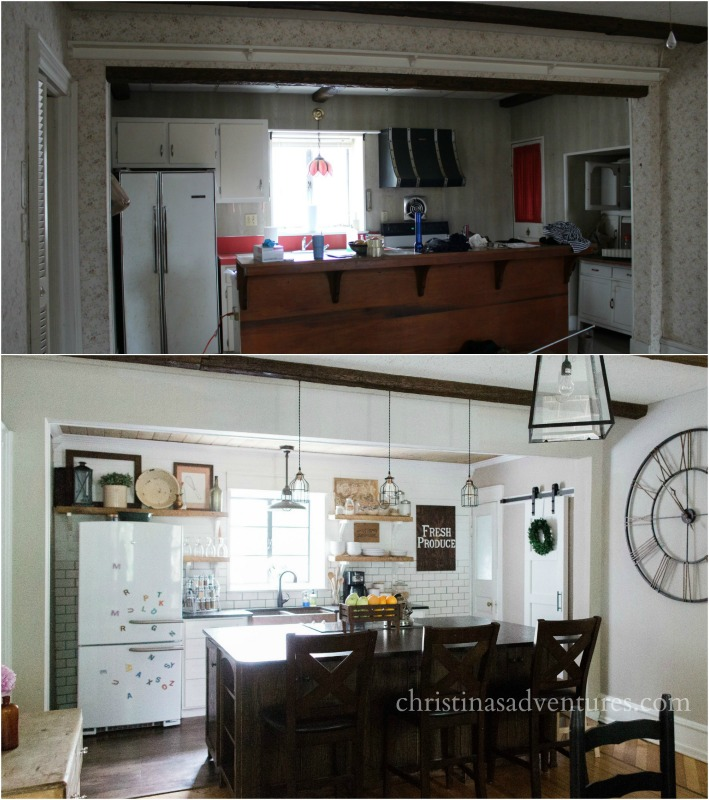 before and after vintage 1902 kitchen renovation