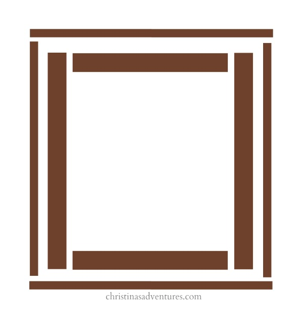 diy wood framed bathroom mirror - christinas adventures