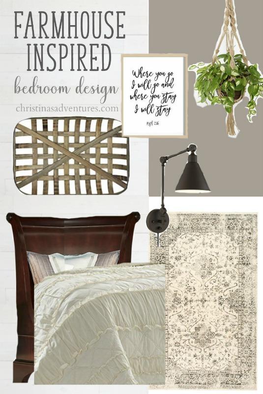 Farmhouse Bedroom Design Board