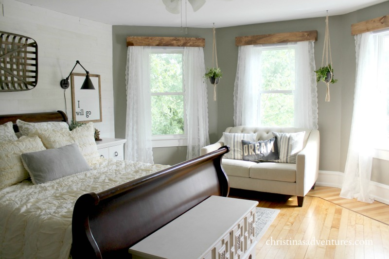farmhouse bedroom horizontal three windows