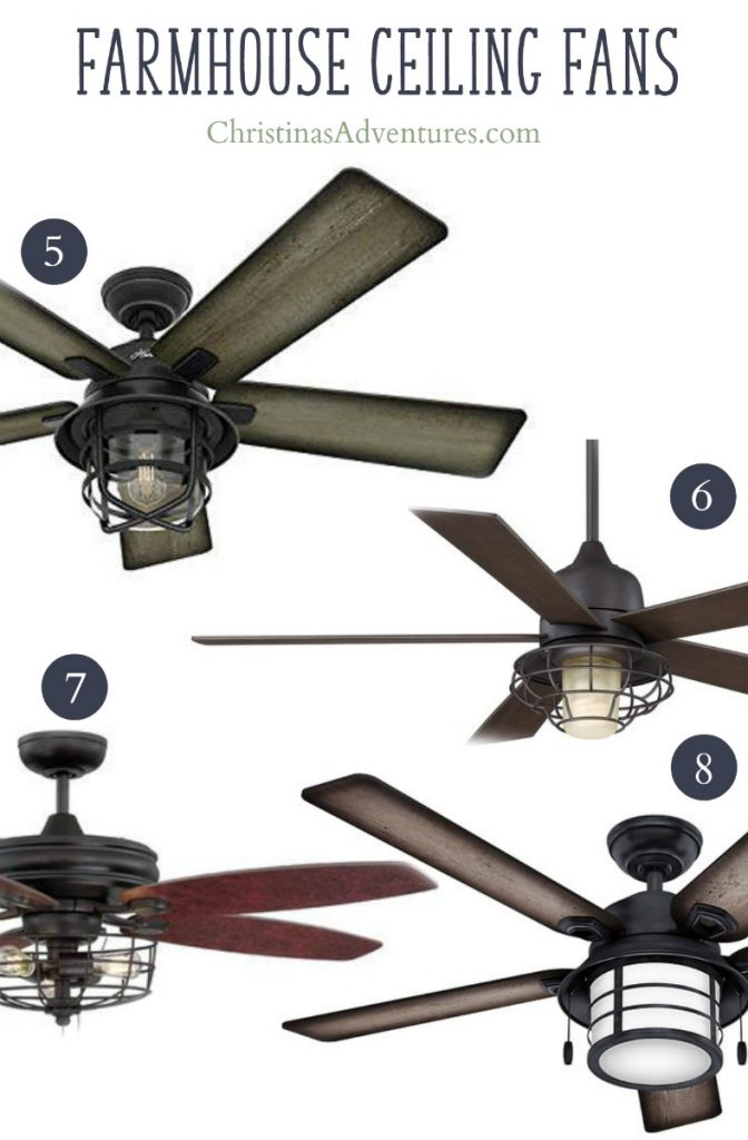farmhouse ceiling fans with cage lighting
