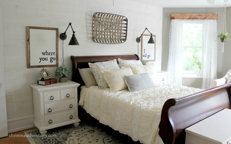 horizontal farmhouse bedroom ruffled bedding bedroom
