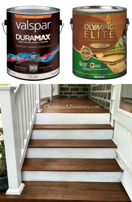Valspar Duramax exterior paint and Olympic Elite Mountain Cedar