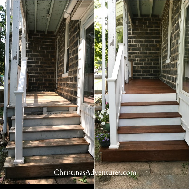 How to refinish a porch before and after