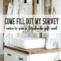 Reader survey + enter to win a Starbucks gift card!