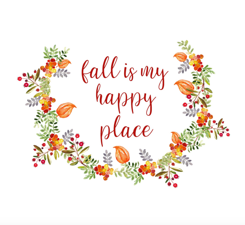 fall is my happy place free printable