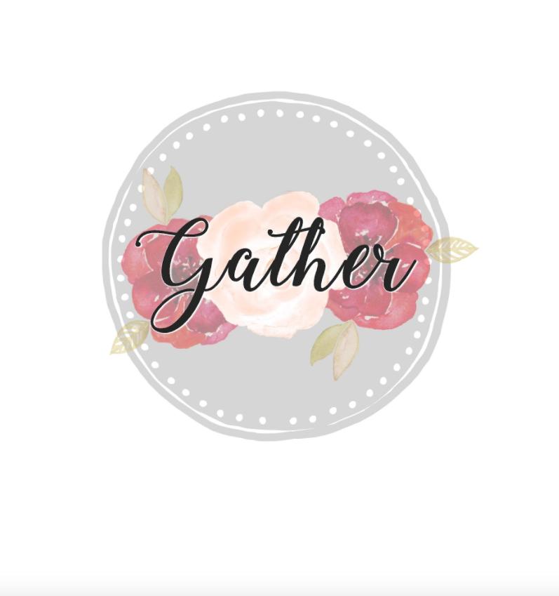 gather circular floral free printable