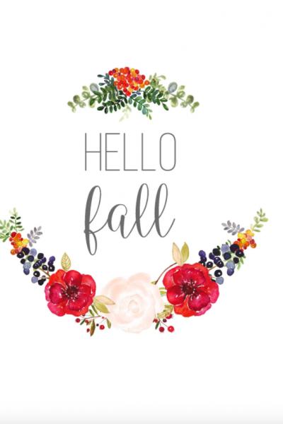 5 Free fall printables