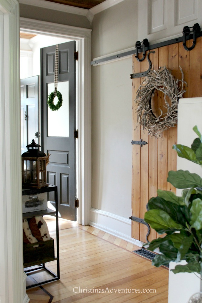 barn door farmhouse hallway