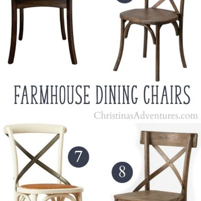 Where to buy X back farmhouse dining chairs