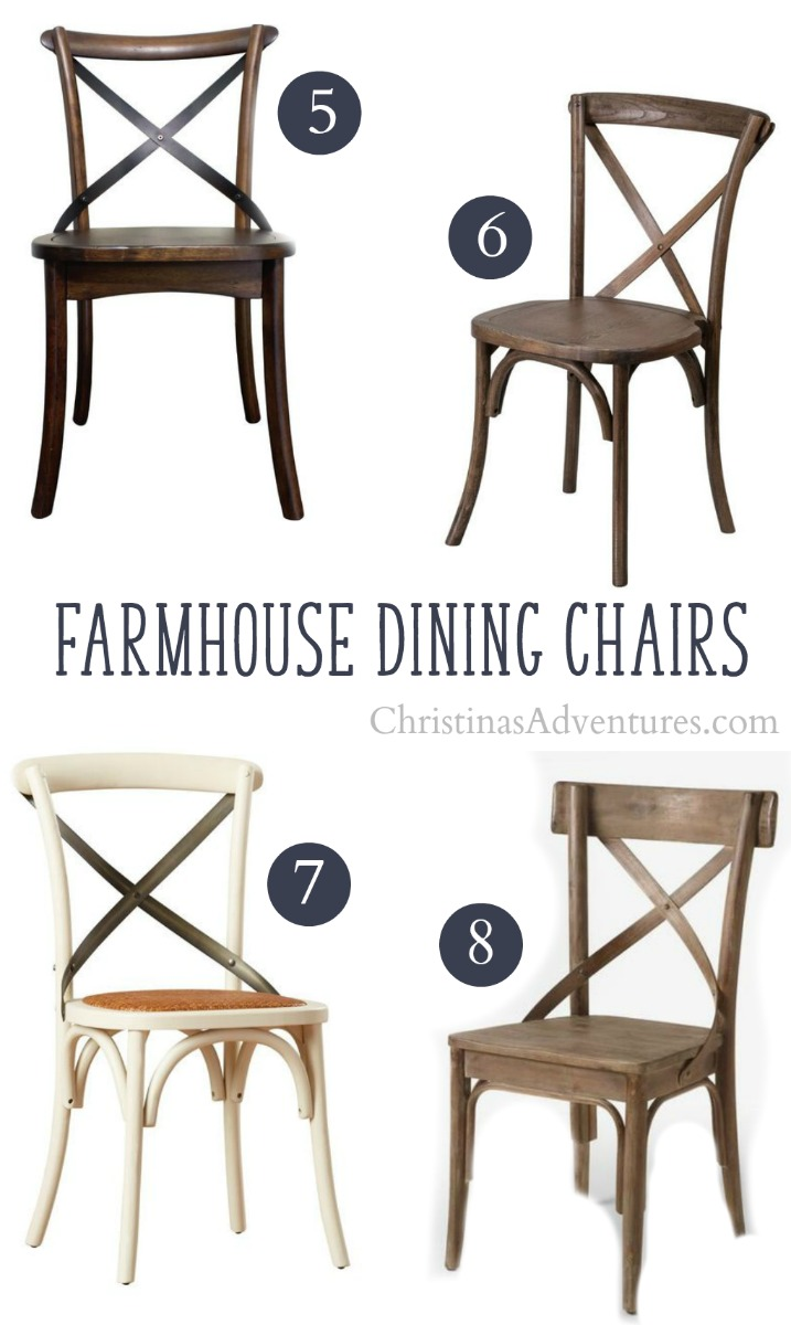 best sources to buy x back farmhouse dining chairs online