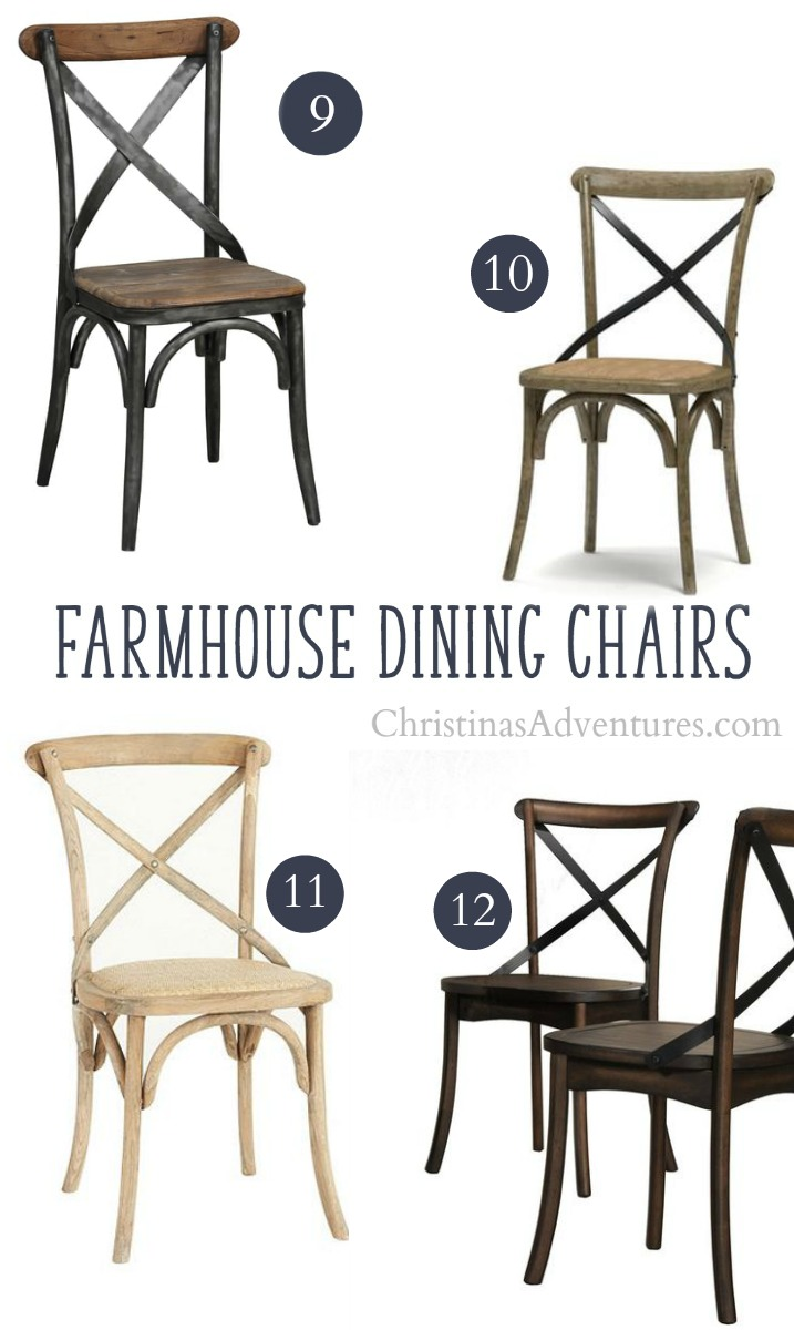 best secret online sources to buy X back farmhouse dining chairs