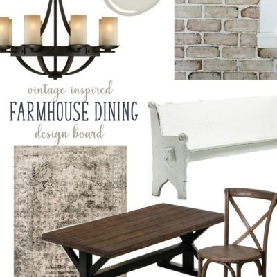 Vintage inspired farmhouse dining design