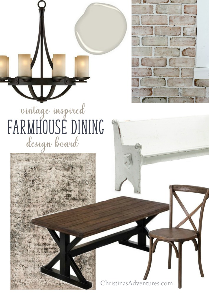 Vintage inspired farmhouse dining design