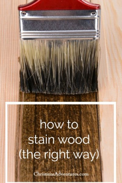 How to stain wood [woodworking tips for DIYers]