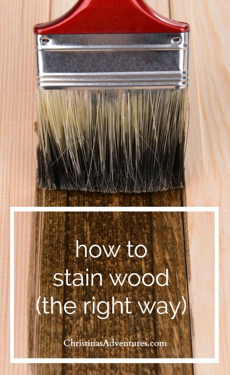 how to stain wood the right way - tips and tricks for DIYers