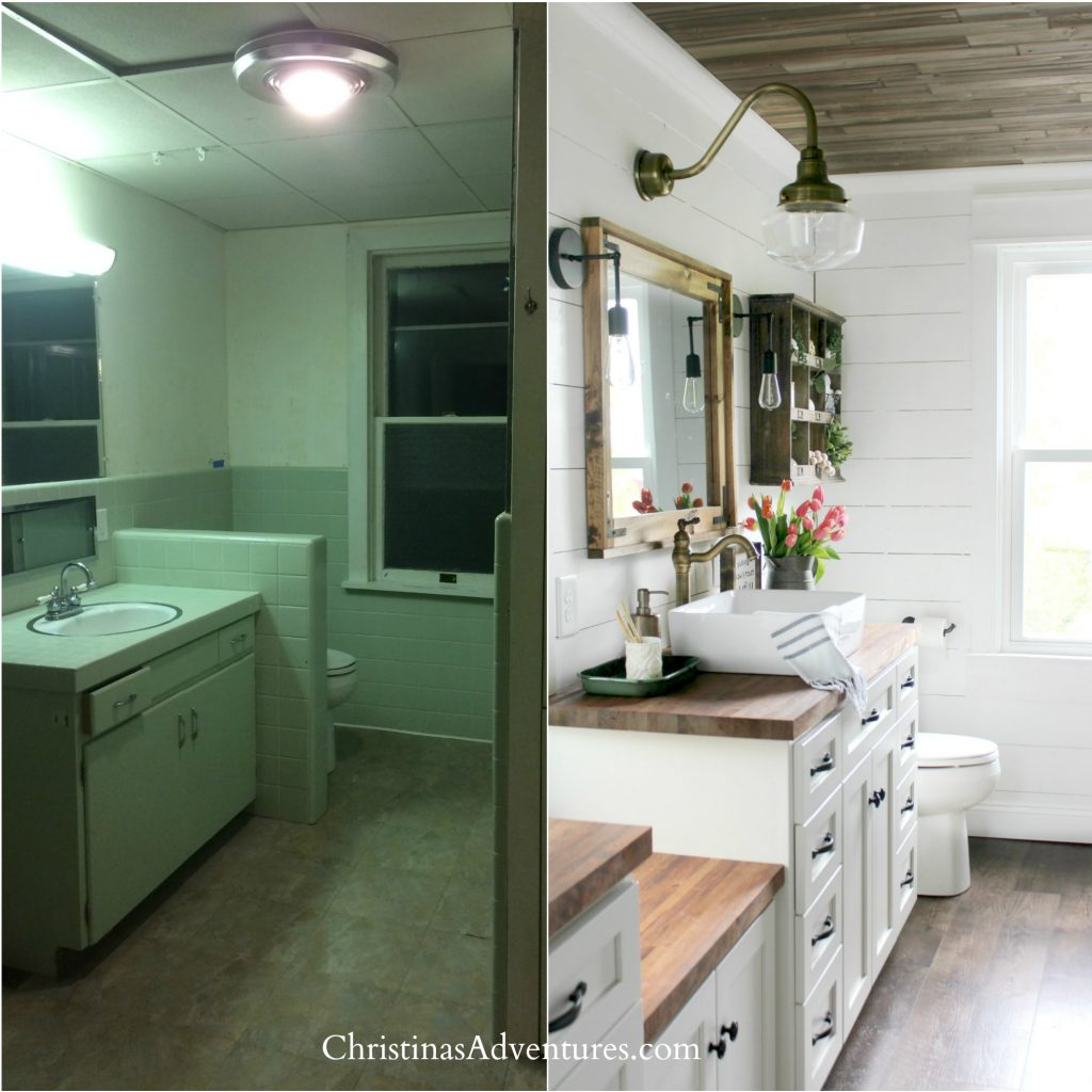 bathroom renovation before and after best house projects for the biggest ROI