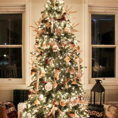 Rustic glam Christmas tree