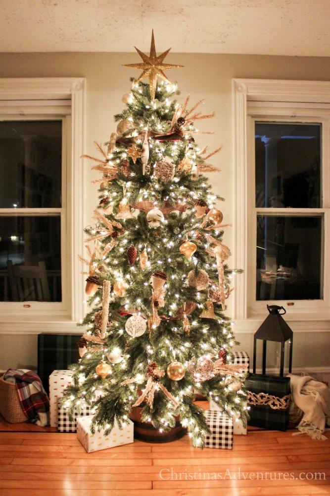 Rustic glam Christmas tree