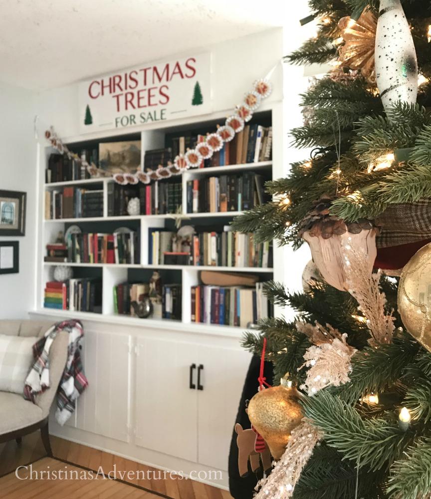 Christmas tree with built in bookshelves