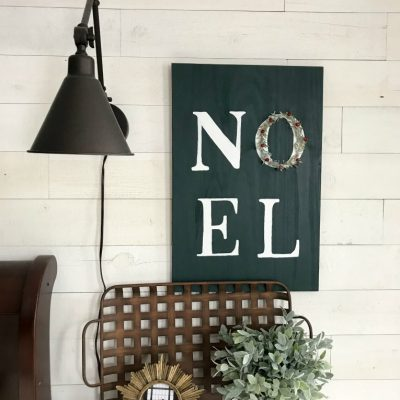 DIY wood Noel sign tutorial