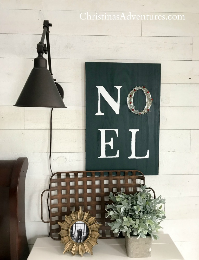 Sconce shiplap wood sign