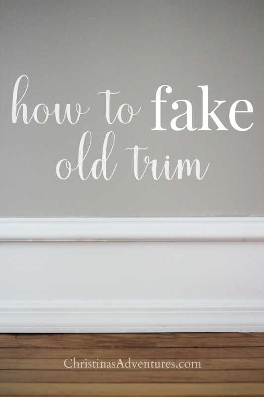 how to fake old trim