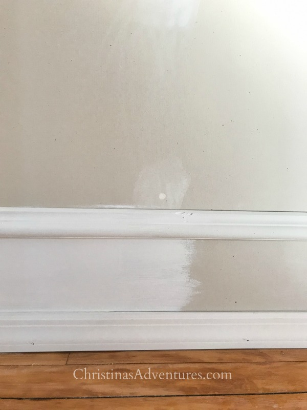 paint trick with faux trim