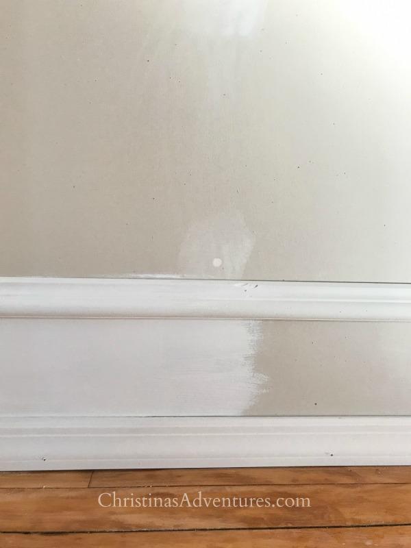 paint trick with faux trim